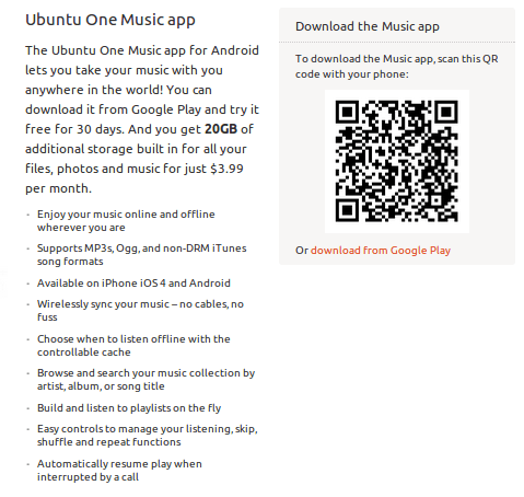 Ubuntu 1 Music app for android from 2013-03-11 13:07:24